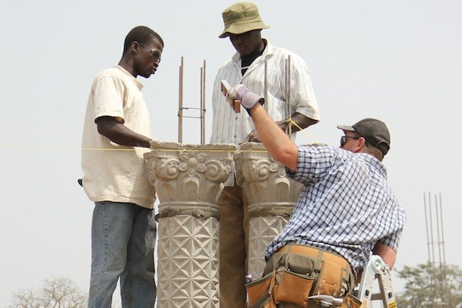 Constructing a church in Tinga
