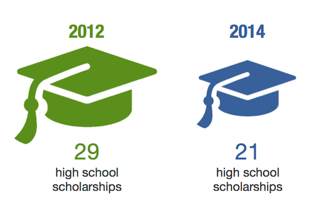 Secondary School scholarship graphic