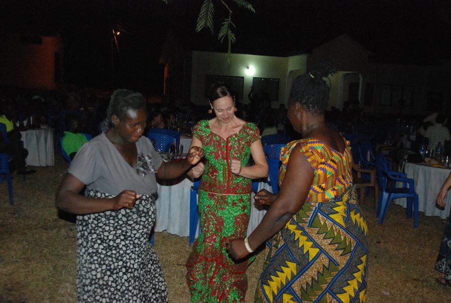Dr. Jenn at the NEA party.